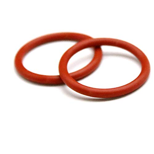 100pcs O Ring Seal Gasket Thickness 3.5mm Insulated Waterproof Washer, Red, Od 14Mm Thickness 3.5Mm