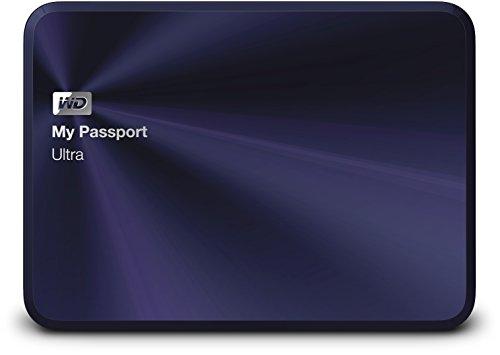 WD 2TB Blue-Black My Passport Ultra Metail Edition - Hard Disk Esterno Portatile - USB 3.0 - WDBEZW0020BBA-EESN