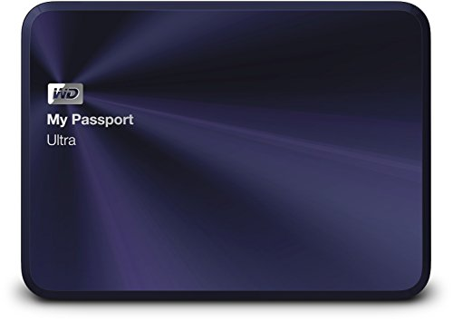 Western Digital 1TB blauschwarz My Passport Ultra Metal Edition tragbare externe Festplatte - USB 3.0 - WDBTYH0010BBA-EESN