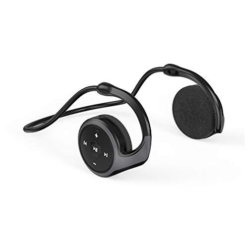 AQUYY Drahtlose Bluetooth Sport Kopfhörer, Faltbare Leichte Kopfhörer Kabellos mit HiFi Stereo Sound, Support Speicherkarte, Komfortables On-Ear Headset für Laufen Radfahren Fitness Black