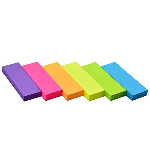 Sticky Notes 1 x 3 Self-Stick Notes 6 Bright Color 18 Pads, 100 Sheets/Pad (6 Bright)
