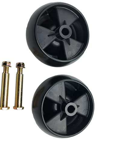 shiosheng 2pcs Deck Wheels Replace 734-04155, Free with Bolts and Lock Nuts Replaces 938-3056 Plus Locknuts. MTD, Cub Cadet, Troy Bilt 112-0677, White