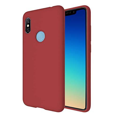 """TBOC Funda para Xiaomi Redmi Note 6 Pro [6.26""""] - Carcasa Rígida [Roja] Silicona Líquida Premium [Tacto Suave] Forro Interior Microfibra [Protege la Cámara] Resistente Suciedad Arañazos"""