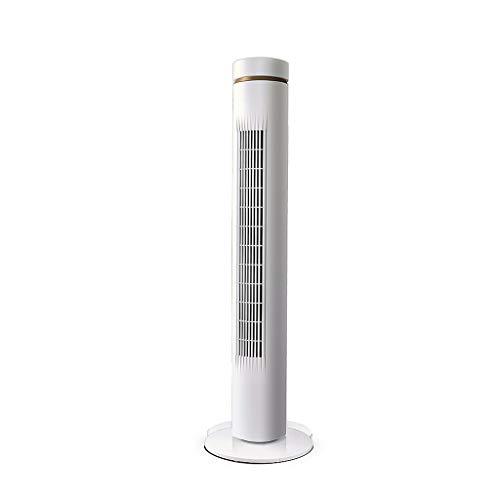 Verdampingsluchtkoeler Airconditioning Koeler 3 Ventilatorsnelheden Voor Thuis- Of Kantoorgebruik Met Afstandsbediening Timer 7 Uur 38 W Wit + Champagne Goud (hoogte 106,4 Cm)