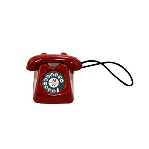 Tensay DIY 1:12 Miniatur Szene Modellmaßstab Puppenhaus Zubehör Mini Telefon Kind Spielzeug, beste Geschenk für Mädchen Jungen Geburtstag Thanksgiving Weihnachten Neujahr, Dekoration Lernspielzeug