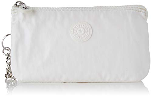 Kipling Creativity L, Monederos para Mujer, Blanco (White Metallic), 18.5x11x1.5 cm