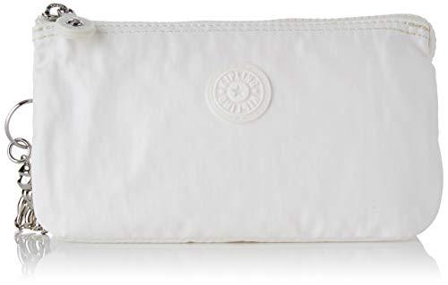 Kipling Creativity L, Monederos para Mujer, Blanco (White Metallic), 18.5x11x1.5 cm