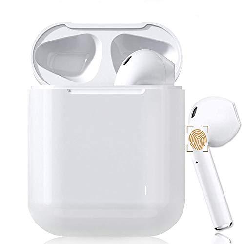 【Touch】Questo auricolare Bluetooth wireless è un auricolare wireless Bluetooth portatile wireless, le dimensioni sono le stesse di Air pod, premi a lungo il pulsante funzione touch, una finestra pop-up automatica, supporta chiamate binaurali, Bluetoo...