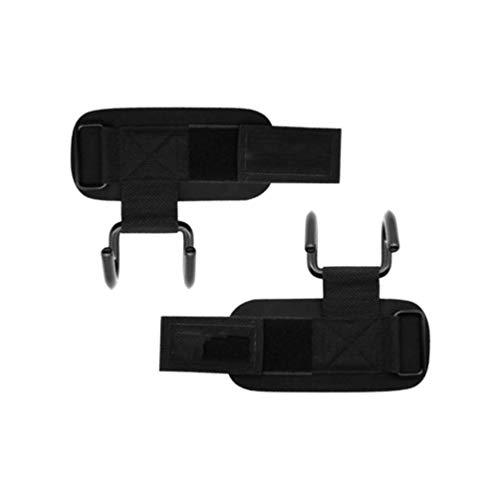Nobrand Egcsf Gewichtheber-Haken, robust, für Damen und Herren, 2 Stück (schwarz)