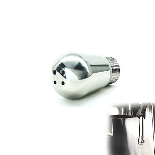 Coffee Machine Steam Nozzle Accessories Compatible with Breville 870XL/878BSS/880/8 Series, Perfect Milk Foam for barista Stainless steel, 4 Holes Silver