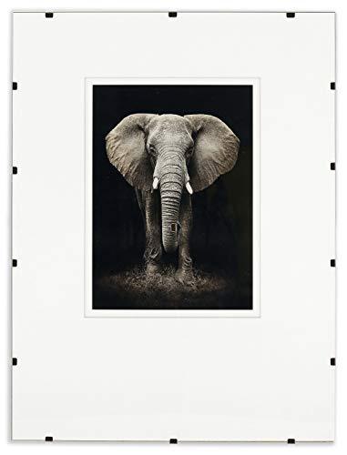 Postergaleria Bilderrahmen Rahmenlos | 70x100cm | Klar Plexiglas | mit Clips | Bildhalter für Fotos Poster | Plakatrahmen | viele Größen | gut für Wohnzimmer, Esszimmer, Küche