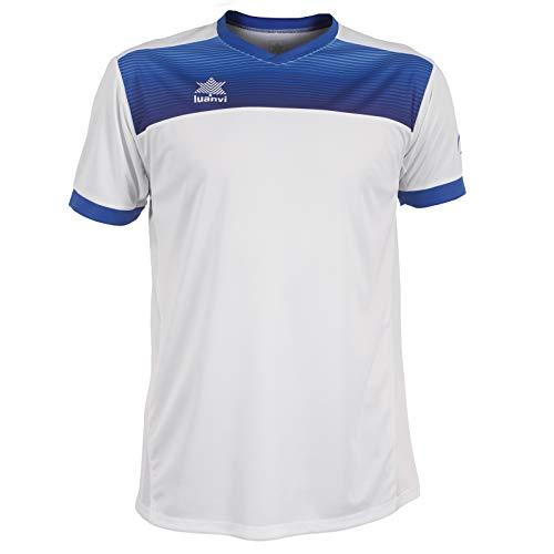 Luanvi Bolton Camiseta Manga Corta de Tenis, Hombre, Blanco, L