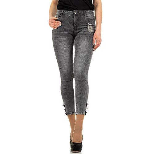 Preisvergleich Produktbild Ital-Design Low Skinny Jeans Laulia Gr. M / 38 Grau