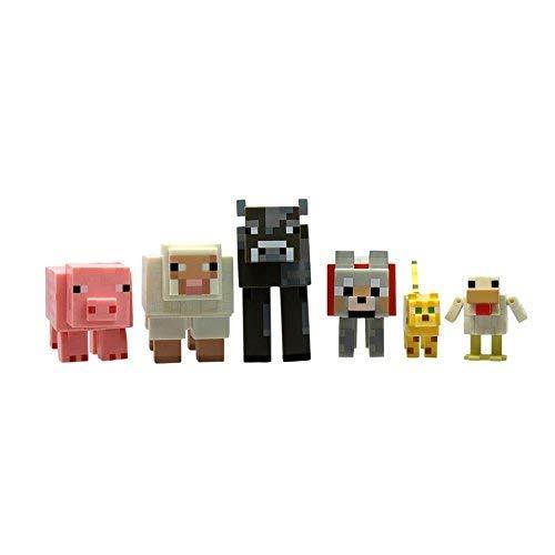Minecraft Articulada Animal Mobs Pack de 6: Amazon.es: Juguetes y juegos