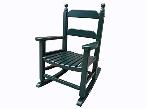 rockingrocker - K081DG Durable Dark Green Child's Wooden Rocking Chair/Porch Rocker - Indoor or Outdoor - Suitable for 3-7 Years Old