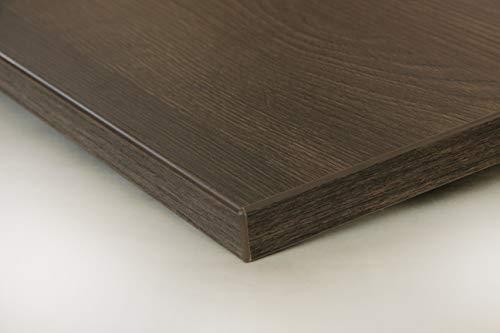Schreibtischplatte 180x80 aus Holz DIY Schreibtisch direkt vom Hersteller vielseitig einsetzbar - Tischplatte Arbeitsplatte Werkbankplatte mit 125kg Belastbarkeit & Kratzfestigkeit - Noce Eiche