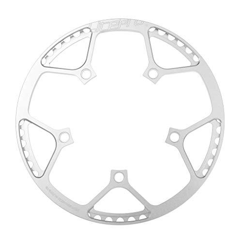 perfeclan único Estrecho Y Ancho - BCD 130 Mm - 45T 47T 53T 56T 58T Anillo de Cadena para Bicicleta - Excelentes Componentes de Ciclismo - Plata 56T