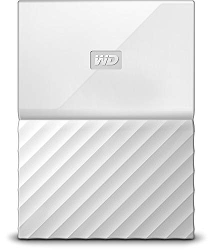 WD My Passport - Disco Duro Portátil de 4 TB y Software de Copia de Seguridad Automática, Blanco