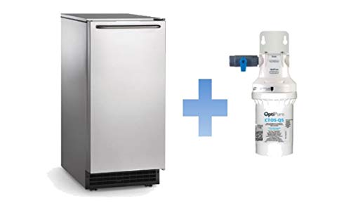 Scotsman CU50PA-1 Gourmet Ice Maker w/ 26 lb Storage Bin and Built-in Pump Drain (with Filtration System)