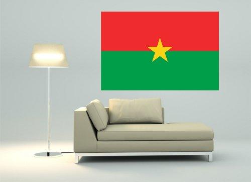 Kiwistar Wandtattoo Sticker Fahne Flagge Aufkleber Burkina Faso 80 x 53cm