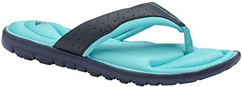 Dunlop Flip Flops / Sandalen mit Zehensteg, flach gepolstert, Blau - Marineblau Jade - Größe: 40 EU