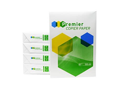 2500 Blatt Druck- und Kopierpapier von Premier DIN A4 80 g | weiß Druckerpapier | Fax | Fotokopierpapier | Laserpapier | Universalpapier