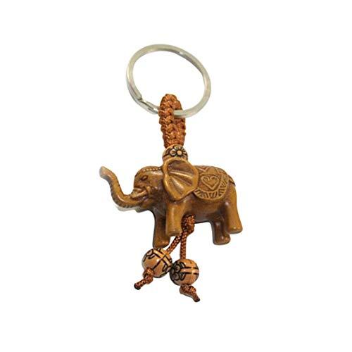 Fancychain Schlüsselanhänger Elefant buddha Budda Kopf Figur buddhismus Glück Ganesha Figur Klein Meditation Asia Geschenk-Idee
