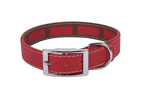 Francisco Romero 8436586341268 - Collana con Rivestimento antiparassitario Biothane Beta, 2,5 x 65 cm, Rosso