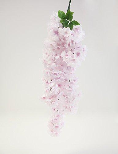 Decor Trader Cherry Blossom Fleur en Soie Artificielle 58 cm 2 Couleurs Mariage Table Rose Clair (66401)