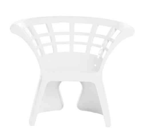 Gaber - 4 sillas Flower blancas tecnopolímero para exterior, diseño jardín sala