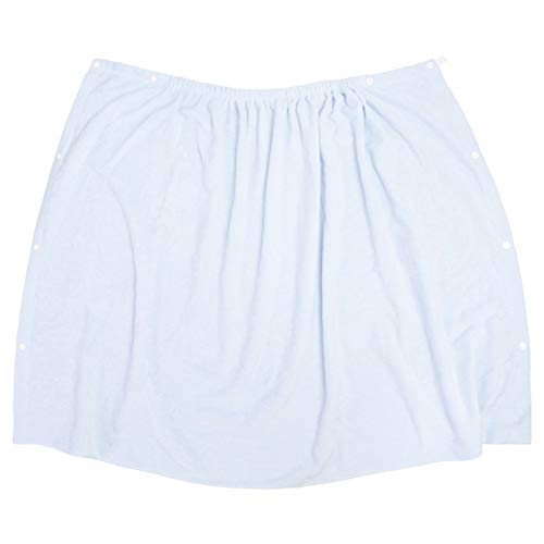 ラップタオル 巻きタオル 子供 水泳 プール スイミング 着替え バスタオル 80cm ブルー 80cm丈