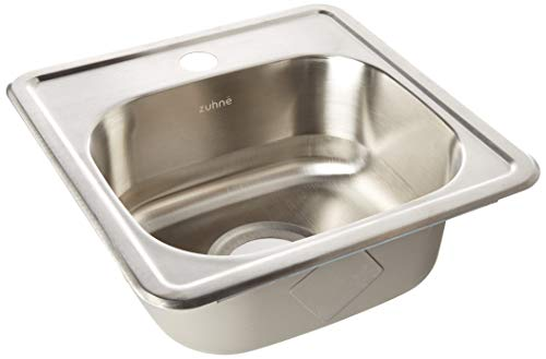 ZUHNE Drop In Kitchen, Bar and RV Stainless Steel Sink (15x15 Small Sink)