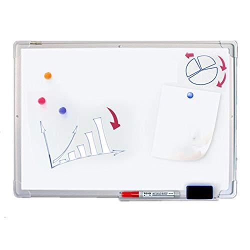Pettneeds Tableau Blanc magnétique de drywipe avec Le Plateau de Stylo et Le Coin en Plastique de Garniture en Aluminium (Couleur : Blanc, Taille : 90x120cm)