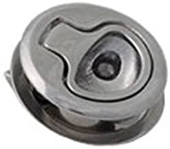 Southco M1 Series Electropolished Stainless Steel 316 Flush Pull Push-to-Close Latch, Key Locking, 0.19