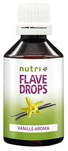 Flave Drops Vanille 50ml - Kalorienfreie Aromatropfen - Süßungsmittel Geschmackskonzentrat - Flavor Drops Vegan - Lebensmittelaroma Vanilla Flavour - Vanillearoma Made in Germany