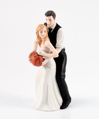 Wedding Star - Figura de Pareja de Novios y Novios de Baloncesto para Tartas