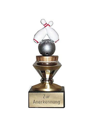 Bowling-Pokal mit Ihrer Wunschgravur (Biso)