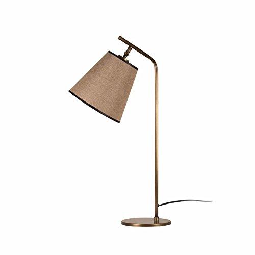Homemania Moderne tafellamp, metaal, goud/donkerbruin, 67 cm, kap: 21 x 20 cm, 21 stuks