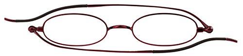SHIORI 老眼鏡 薄型リーディンググラス SI-01S-3+3.00 オーバル ピンク