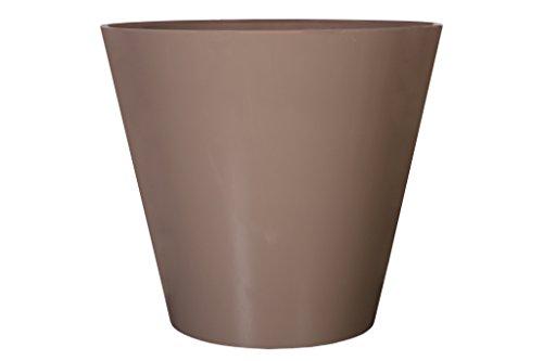 Art en Vogue Pot de Fleurs, Bac à Plante Claire, Finition Brillante, Taupe, 47x47cm