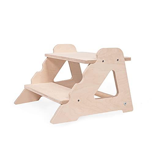 Kinder Tritthocker Zweistufig aus natürlichem Holz   modernes Design Stockerl für Kinder   Sicher und universell Kinderschemel 2 Stufen   100{68044147bf7f6900e430881f7c057e3a69b8fa2fe18a5a08fe0088e6663faeb2} ECO   Made in EU