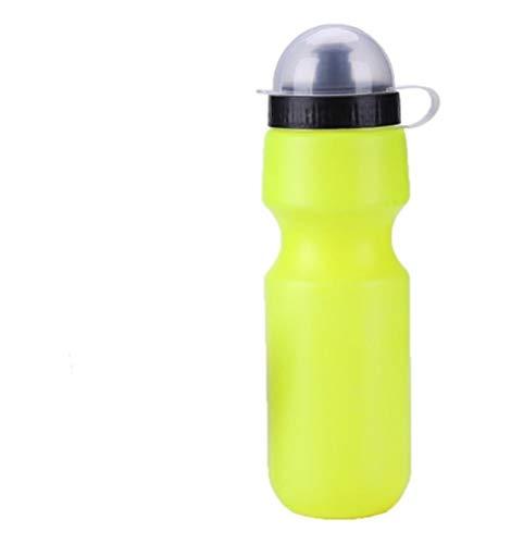 RongWang 650ML Portátil Al Aire Libre Bicicleta Ciclismo Deportes Bebida Jarra Botella De Agua DIY Botella De Bicicleta con Soporte (Color : Yellow)