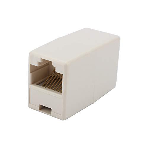 PUSOKEI Extensor de Cable Ethernet del acoplador RJ45, Conector de Red del acoplador del acoplador del Cable LAN de Ethernet del Cat 5 5E, 1PC