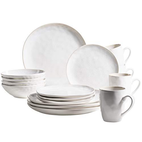 MÄSER 931856 Frozen - Vajilla de cerámica para 4 personas (16 piezas, cerámica), diseño de Frozen