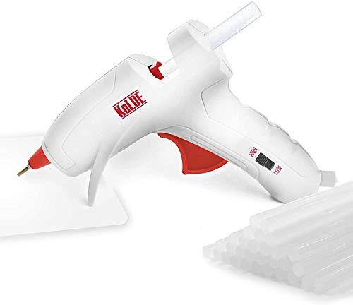 Dual Temp Hot Glue Gun with 25pcs Glue Sticks, KeLDE Long Fine Tip Mini Adjustable Melting Glue Gun Kit for DIY Precision Projects, 20 Watts