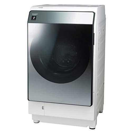 シャープ 洗濯機 ドラム式 ES-W113-SL ハイブリッド乾燥 左開き(ヒンジ左) DDインバーター搭載 洗剤自動投入 シルバー 洗濯11kg/乾燥6kg 幅640mm 奥行727mm