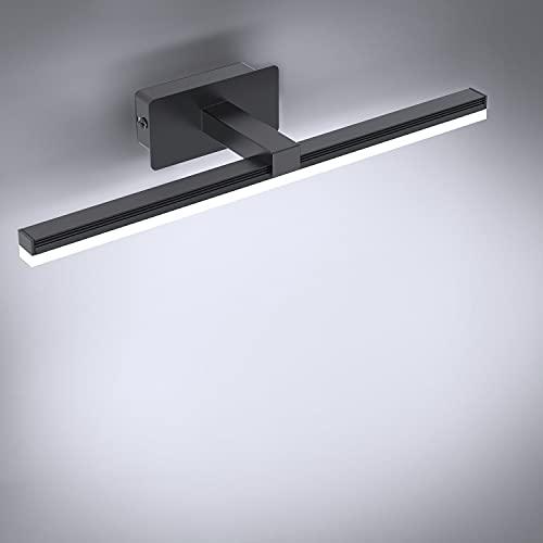 Kimjo Lámpara de Espejo Baño 9W, Blanco Frío 6000K 720LM Aplique de Baño, Prueba de Agua IP44 Aplique Espejo Baño, 40CM Lámpara LED de pared para Espejos de Baño, AC100-240V Luces para Espejo