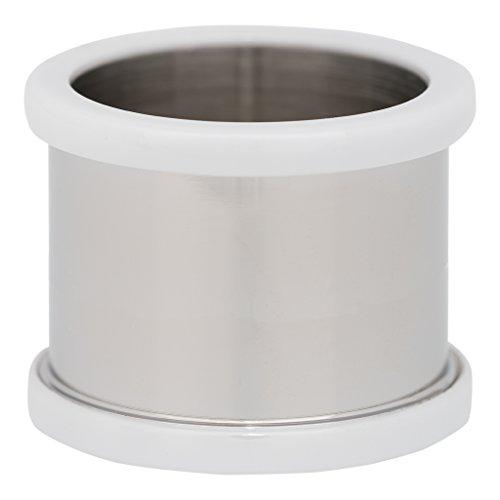 iXXXi BASISRING silber KERAMIK WEIß - 14 mm Größe 17