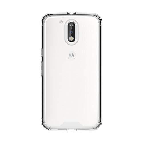 CAPOOK/For Motorola Moto G (cuarta generación) / G4 Plus Transparente a Prueba de Golpes Funda Protectora de la contraportada de TPU (Negro) Personalizado (Color : Transparent)