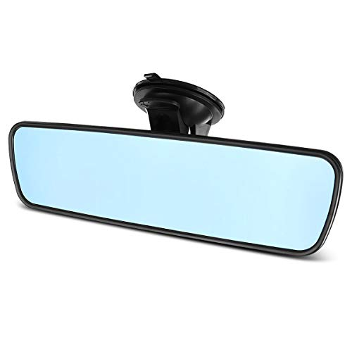 ELUTO Rear View Mirror Anti-Glare Rearview Mirror Universal Interior Rearview Mirror with Suction Cup for Car Truck SUV 9.5'' (240mm)